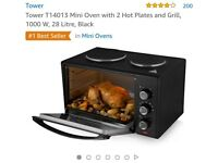 Brand new in box Tower mini oven and hob