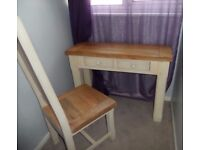 Solid Mango Mantis Dressing /Console Table and chair