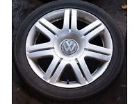 """17"""" Bistar alloys x4 VW Passat W8 (also Polo, Golf, Audi, etc.) Rare!"""