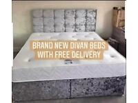 DIVAN BEDS🔵 WITH MATTRESS🔥FREE DELIVERY 🚚