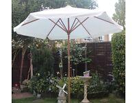 Large white parasol