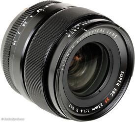 Fujifilm 23mm F1.4 camera lens boxed in mint condition. Fuji