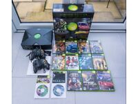 Original Microsoft Xbox Limited Edition Console + 2 Controllers + 13 Games