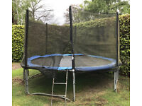 4m/13ft Garden Trampoline with safety netting for sale