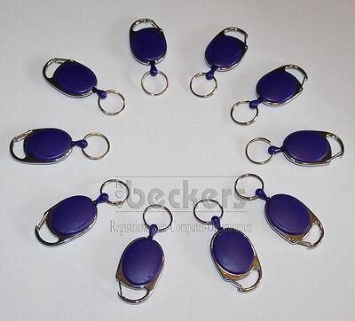 10 x Rollmatic Jojo Ausweishalter Kartenhalter lila violet