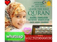 Quran teachers available online via skype and whatsap 3 days free trial