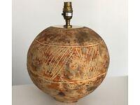 Decorative stone table lamp