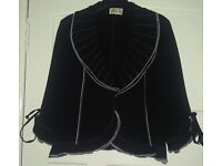 Gold by Michael H Black & White Ruffle Hem Blazer Jacket & Trouser Suit, Wedding Guest Outfit UK 16