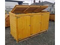 Wheelie bin storage boxes holders.