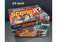 Scene It? DVD Board Games Various Editions - Family TV & Movie Trivia Fun - Harry Potter Etc.
