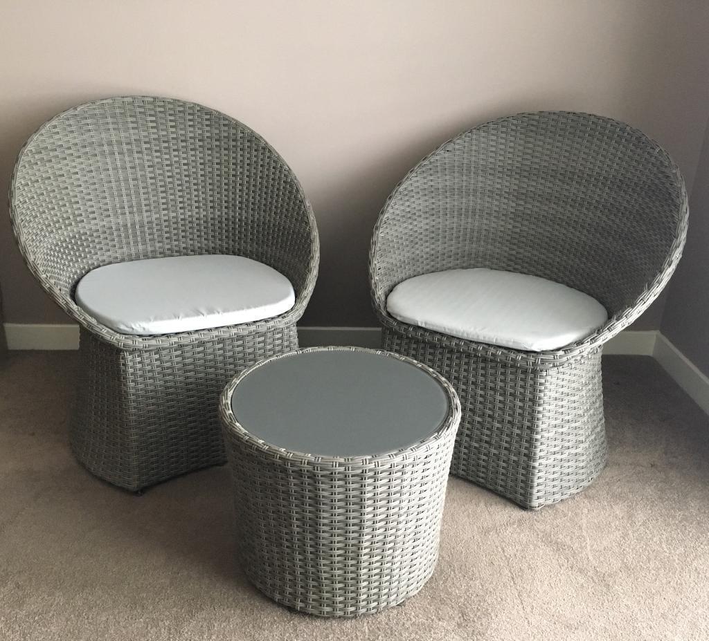 Rattan garden furniture set edinburgh £100 00