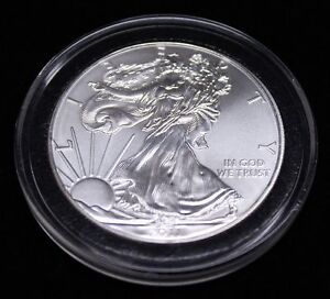 25-Airtite-Coin-Capsule-Holders-with-Black-Ring-for-American-Silver-Eagle-40mm