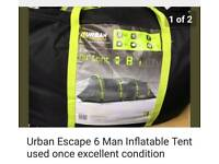 Urban escape 6 man inflatable tent