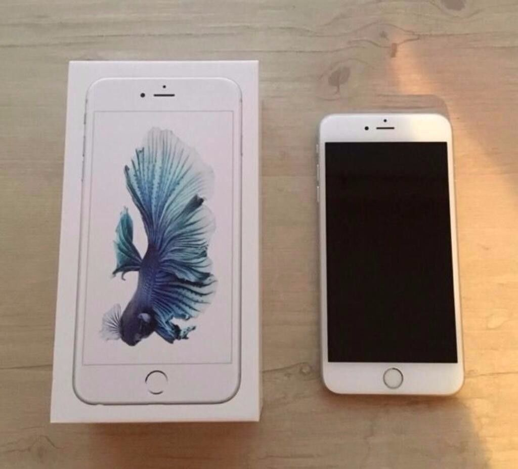 like new iphone 6s plus 64gb unlocked all networks silver with box and usb charger case 7 6 s 5. Black Bedroom Furniture Sets. Home Design Ideas