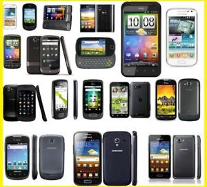 45$ CHAQUE PETITS CELLULAIRES ANDROID DEBLOQUE WHATSAPP VIBER TXTNOW HTC SAMSUNG LG UNLOCKED FIDO ROGERS TELUS CHATR +++