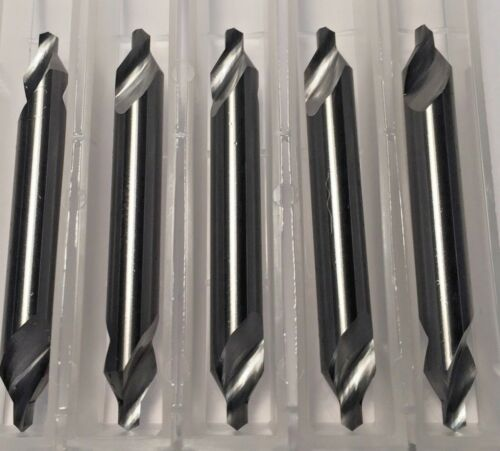 "Carbide Center Drill #4 (1/8"" pilot) 60 degree 5-Pack Made In the USA H24"