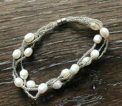 3 Strand Freshwater Pearl Bead 7.5