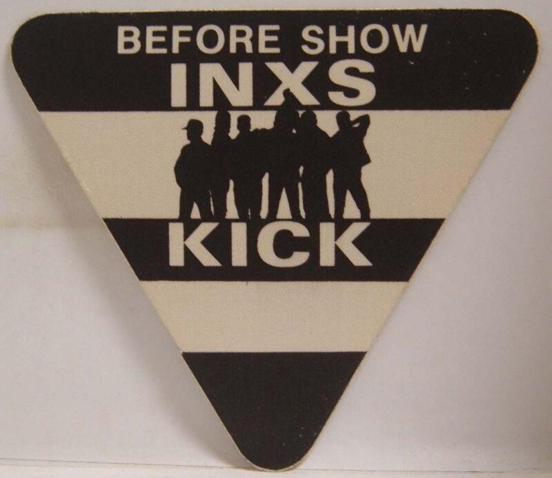 INXS / MICHAEL HUTCHENCE VINTAGE ORIGINAL CLOTH CONCERT TOUR BACKSTAGE PASS