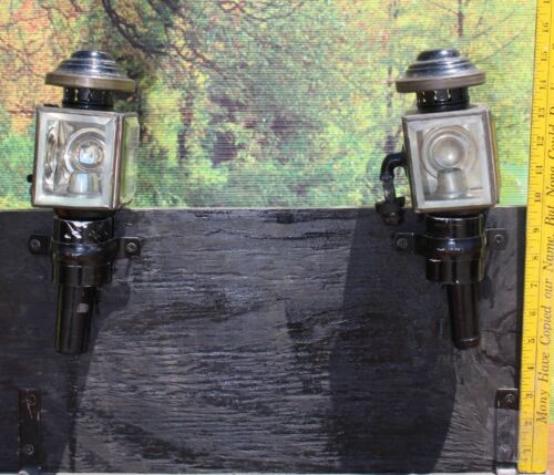 46-24 Genuine vintage carriage lamps candle style original condition PONY SIZE