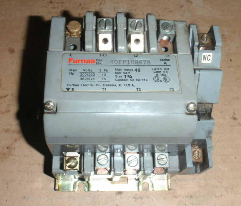 FURNAS ELECTRIC CO.  Contactor Series A_40EP108678_4OEP108678