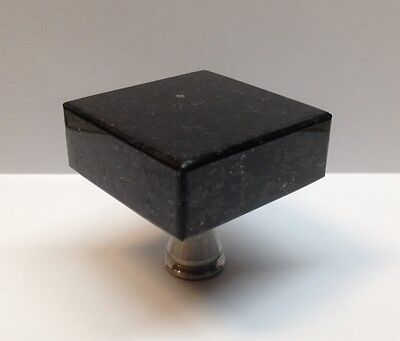 Granite Marble Knob Pull for Furniture Kitchen Cabinets Drawers Doors-800B-BG-SS