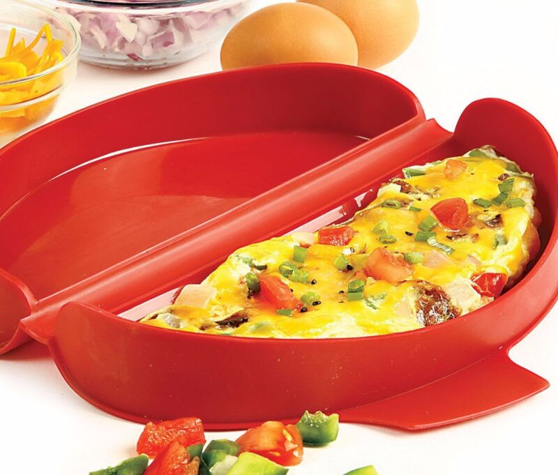 NORPRO 930 SILICONE MICROWAVE OMELET MAKER, RED