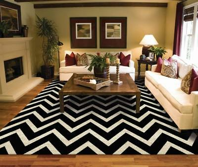Luxury Chevron Modern Cream 8x11 Rugs Black Mark 4x6  5x8 Bedroom  8x11 Black Area Rugs