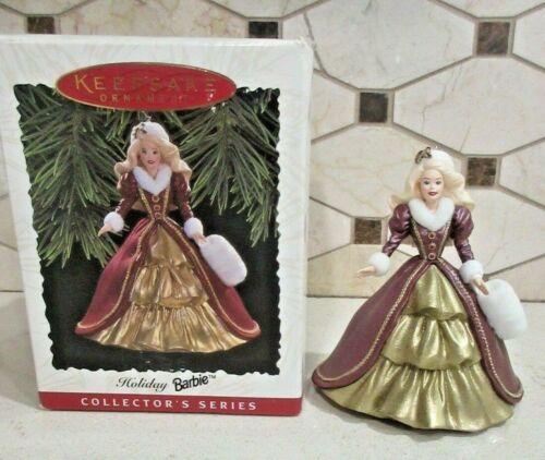 Hallmark Keepsake Ornament Holiday Barbie 1996 4th in  Holiday Series NIB