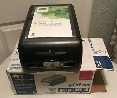 Tork Xpressnap Counter Napkin Dispenser Black New Open Box