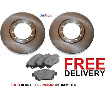 FOR FORD TRANSIT (06-13) 280 300 330 350 2 REAR BRAKE DISCS 7 PADS SET RWD NEW