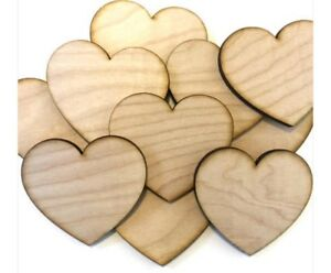 10 Unfinished Wood Hearts 3