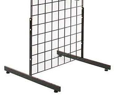 T Grid Gridwall Slatgrid Panel Legs Stand Display Lot Of 5 Sets Of 2 Black New