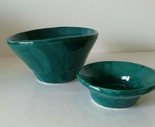 AGNETA EARTHERNWARE Agneta Livijn Dish Jade Green Asymmetrical Pottery Bowl Pot