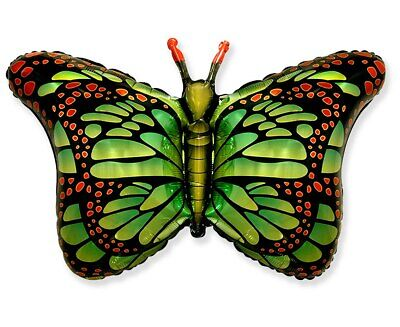 Schmetterling grün ca. 80cm Luftballons Folienballon Geburtstag Figur deko xxl ()