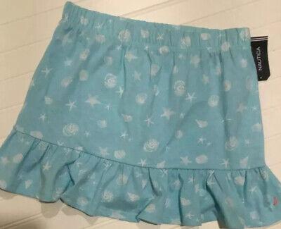 Nautica Girls Pale Blue Nautical Pattern Skirt Size 12/14