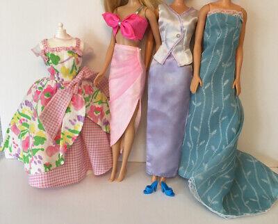 Barbie Sindy Fashion Doll Vintage Collector Clothes Bundle Lot Floral Lilac Pink