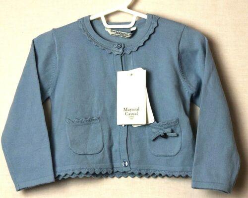 Mayoral Girl NWT Blue Cardigan Sweater Toddler Baby 18 mo.