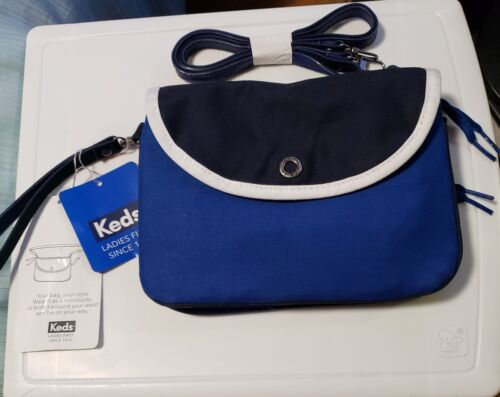 NWT KEDS Ladies Crossbody Or Waist Bag. Blk./blue/wht. With