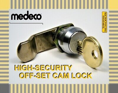 Medeco High-security Offset-cam Lock Cylinder Lock With Factory Restricted Key