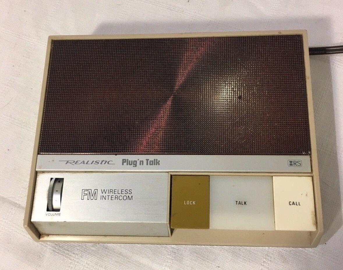 Realistic Plug'n Talk Wireless Intercom - Untested!