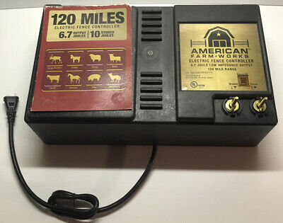 American Farmworks Electric Fence Controller 120 Mile 6.7 Joule Low Impedance