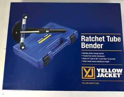 Yellow Jacket 60325 Deluxe Ratchet Hand Tubing Bender With 60342 Reverse Mandrel