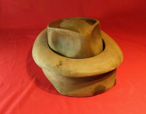 ANTIQUE HAT BLOCK FORM ~ MILLINERY INDUSTRIAL MOLD ~ WOOD FORM                 5