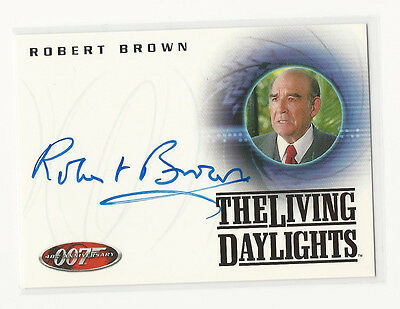 Robert Brown as M JAMES BOND 007 40th Anniversary Autograph Auto Card A18