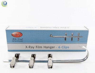 New Dental X-ray Film Hanger 6 Clips For Xray Film Dip Tank Developer 451-0006