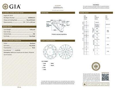 3 carat Round Diamond Studs 18k Yellow Gold Earrings w/ GIA report I VS2 clarity 2