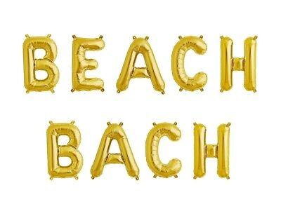BEACH BACH Letter Balloons- 16