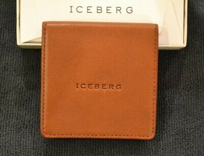 Iceberg Small Fold Out Coin Purse. Light Brown Leather. New in presentation box