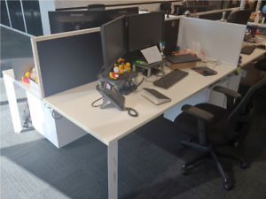 4 Person Office Workstation Desk