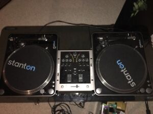 Stanton T.62 Turntables and Numark M3 Mixer